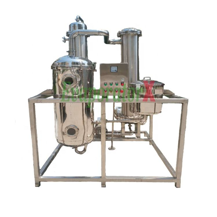 High Effect 150L/h Falling Film Milk/Juice Evaporator Concentrate Machine