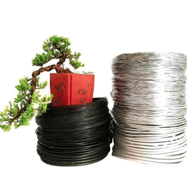 Bonsai Training Black Aluminum Wire From China Supplier, 2.0mm-8.0mm Diameter