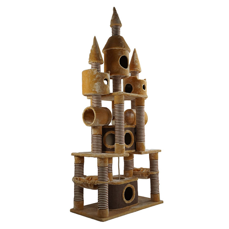 Hot Sale Pet House Platform Cat Tower Cat Scratching Post Tree