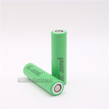 Brand New ICR 18650 25R 3.7V 2500mAh Deep Cycle 20A Discharge Battery Cell Cylindrical Flat Top  Li-ion Battery