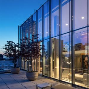 House Double Aluminum Frame Tempered Glass Curtain Wall