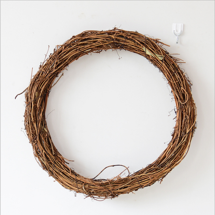 autumn dried flower wreath Grapevine wreath supplies wholesale wooden christmas decoration