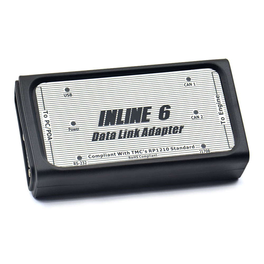 Full 8 cable inline 6 data link adapter heavy duty diagnostic tool trucks
