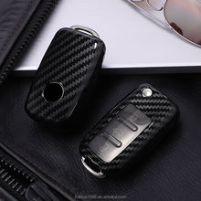 For volkswagen Lavida Gran Lavida Golf 6 BORA SAGITAR POLO Tiguan Car Key Case PC Carbon filament Cover Car key shell