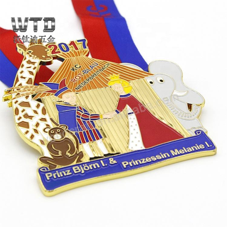 Coloring Award Sport Carnival medals with ribbon for Kids Custom Carved Medallion