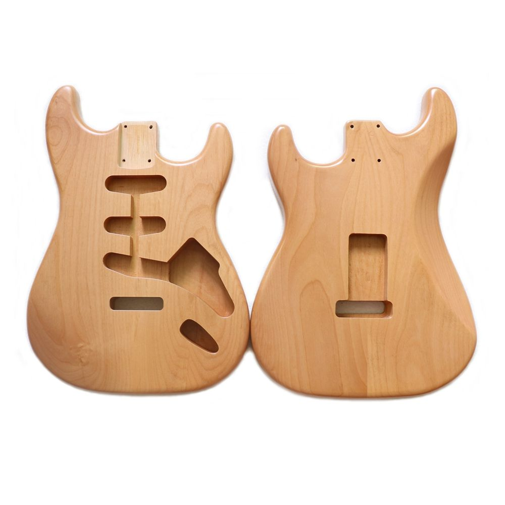 2 piece Alder Strat Electric Guitar Body finished in Nitro satin aged nature color for vintage guitar building