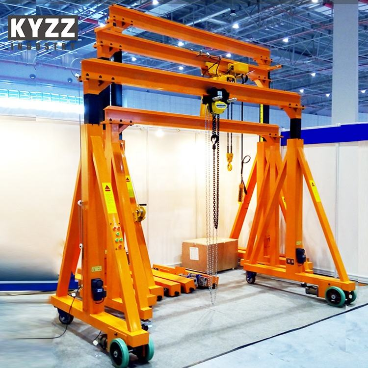 Used Mobile Rubber Tyre Gantry Crane 10 5 3 2 1 Ton Price, Small Mini Portable Gantry Crane Used China