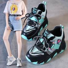 super high heels chunky sneakers women Platform height increasing casual shoes woman High Quality shoes zapatillas mujer