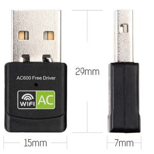 Free Driver USB Wifi Adapter AC 600Mbps 5ghz USB Wifi Dongle
