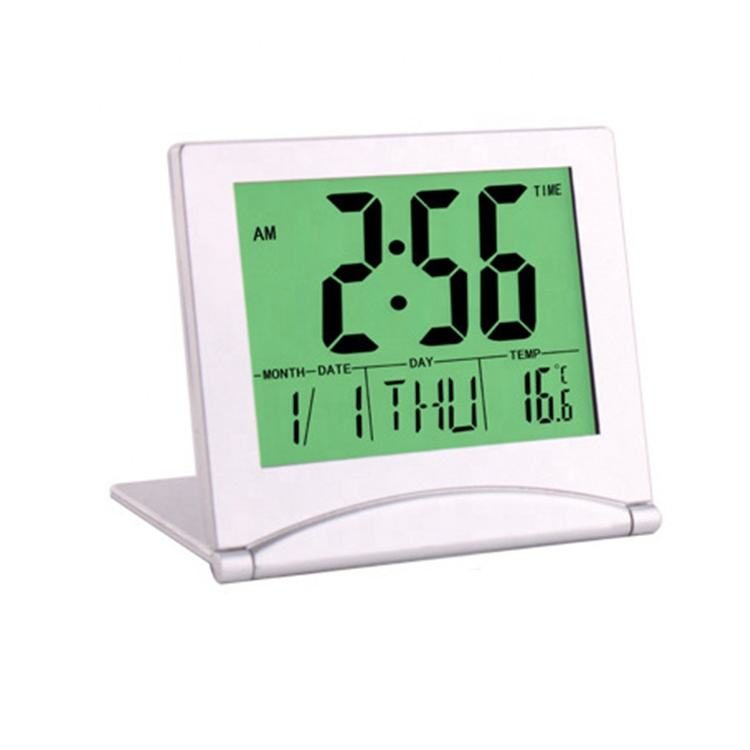 Multifunctional LCD folding calendar alarm clock with temperature humidity meter Buy Folding Travel foldable Alarm Clock