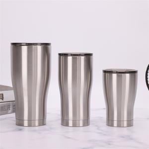 20oz 600ml stainless steel modern curve tumbler vacuum insulated double wall cup with sliding