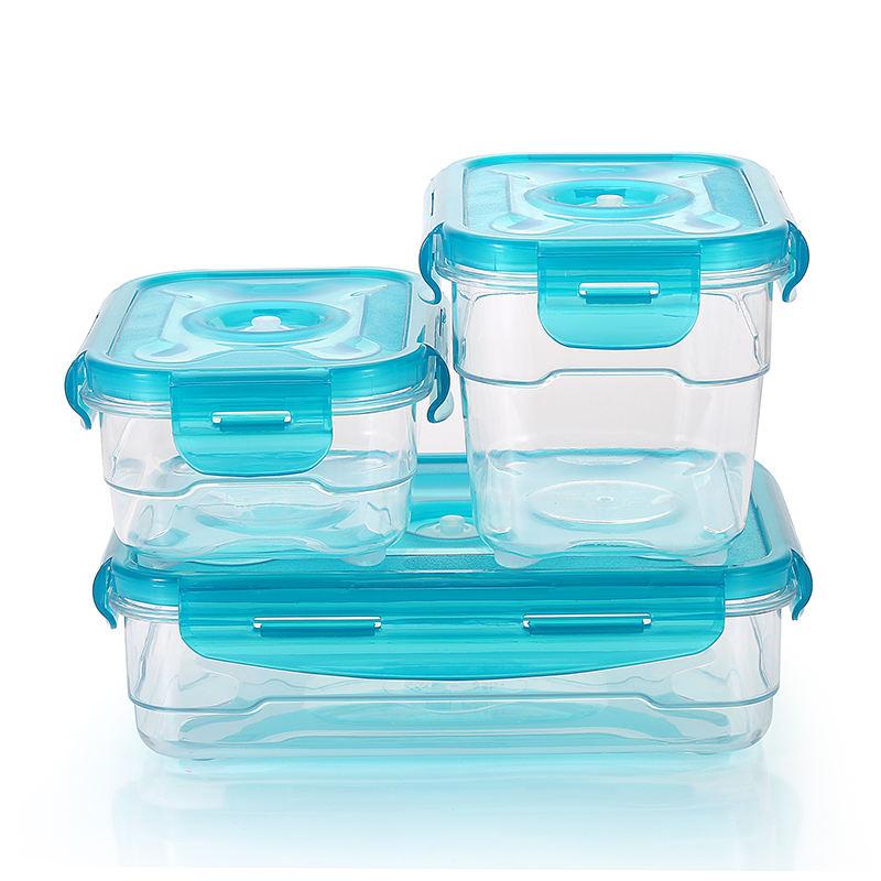 Vente chaude Tritan boîte de rangement écologique 1000ML étanche à l'air couvercle organisateur alimentaire conteneur