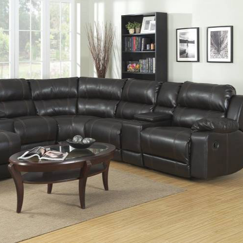 Hot selling home leather recliner sectional sofa with console and chaise