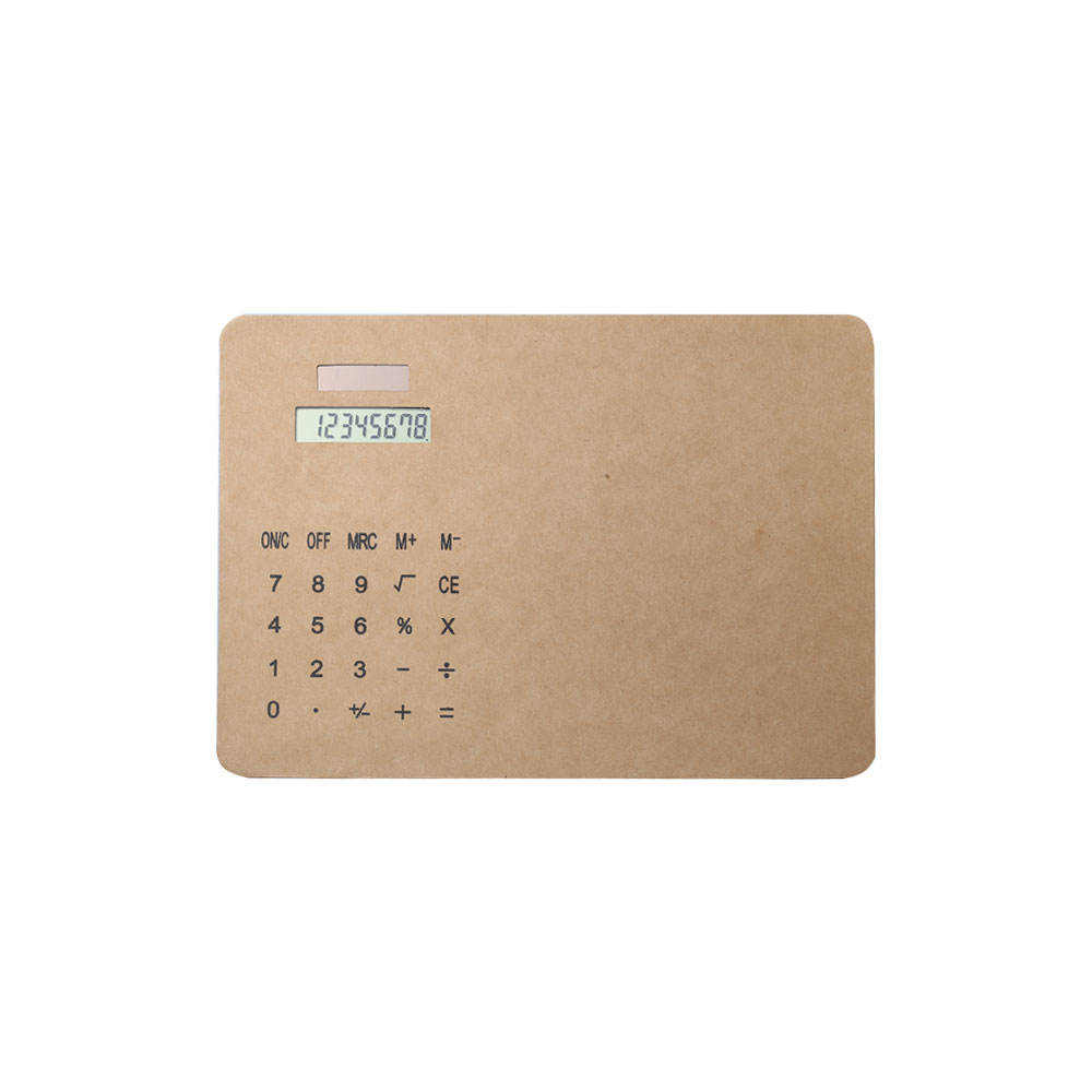 gift Color Office Kraft 8-Digital Display PU Soft Mousepad Calculator