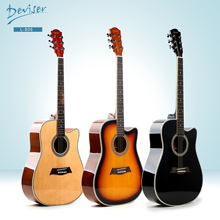 Deviser  guitar acoustic Made in China wholesale guitar ABS 5 lines decoration 41 inch L-806 High glossy