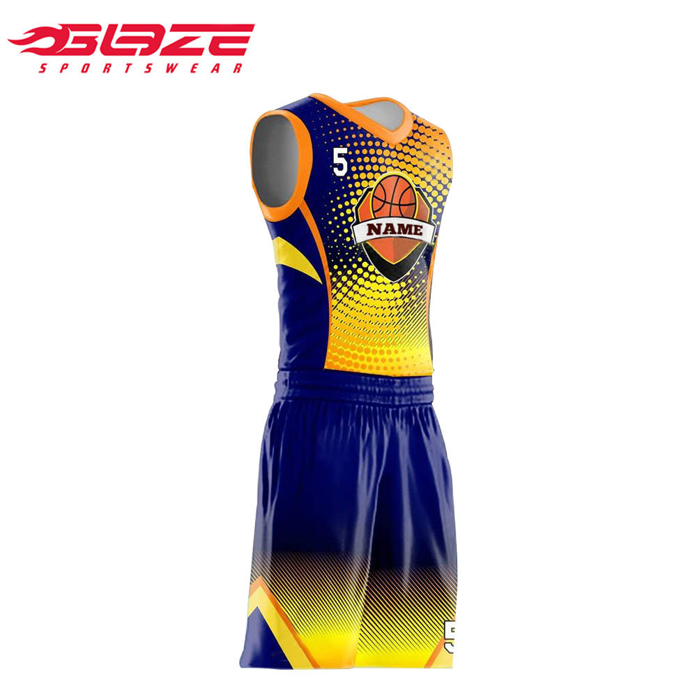 Custom sublimated reversible youth basketball uniforms new design