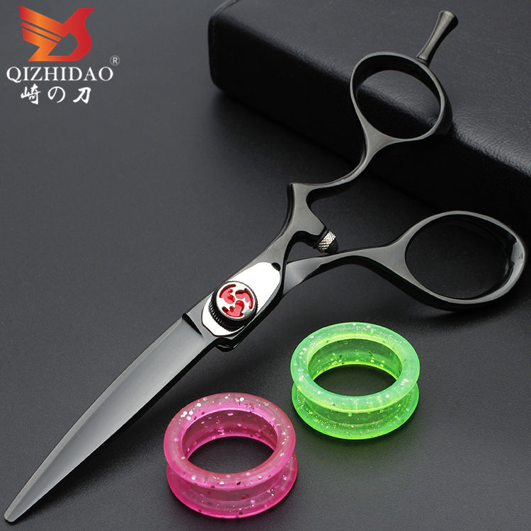 Japanese Black Elastic Paint Band Logo Professional Barber Scissors