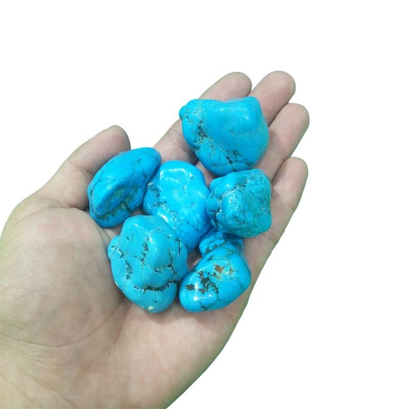 Wholesale natural high large size quality crystal gravel turquoise crystal tumbled stones for healing