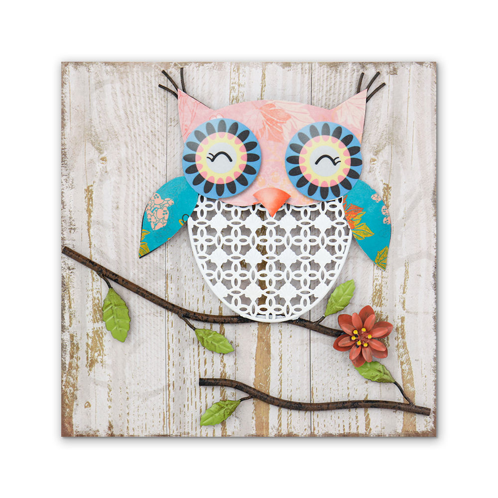 3D cute owl canvas painting wall arts for kids room