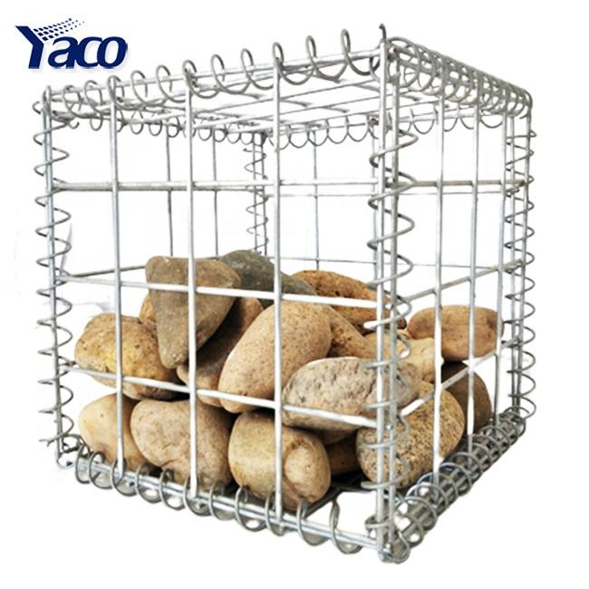 hot dip galvanized gabion box garden fence, welded wire mesh gabion basket gabion wall fencing