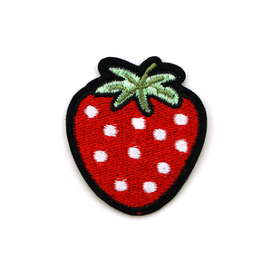 Bulk Free Sample Cute Custom Embroidery Patch Embroidered Iron-On Patches for Clothing