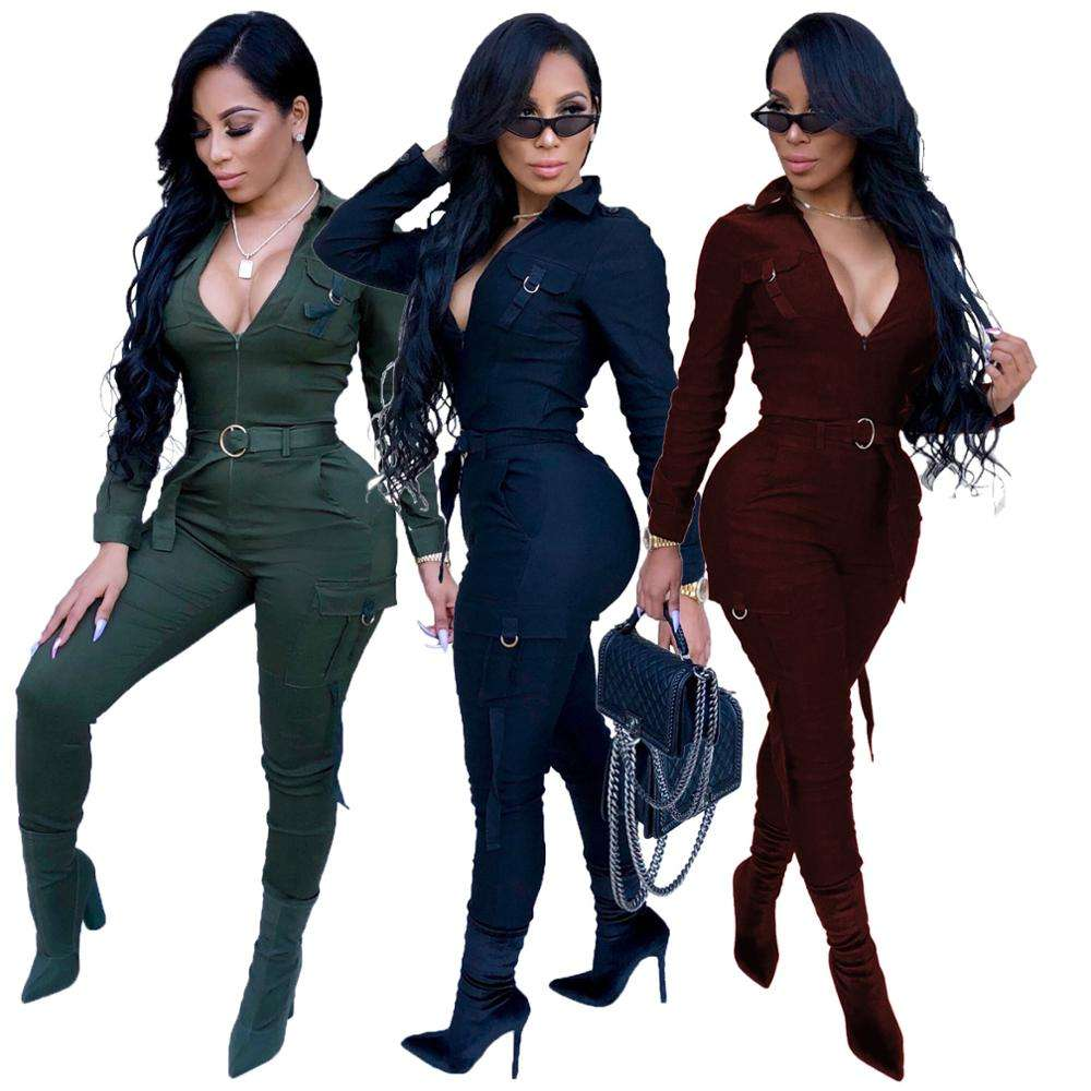 Vrouwen Een Stuk Sexy Skinny Jumpsuits Rompertjes Party Club Wear Bodycon Jumpsuits Bodysuits