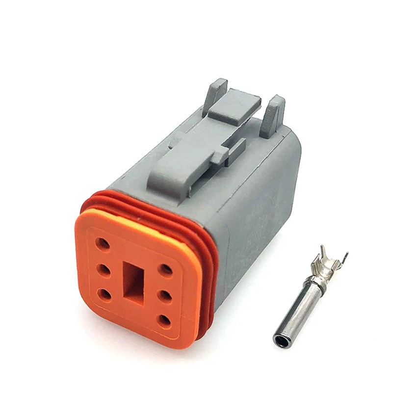 1 piece Automotive Connectors PLUG ASSY 8P 14-18 RED