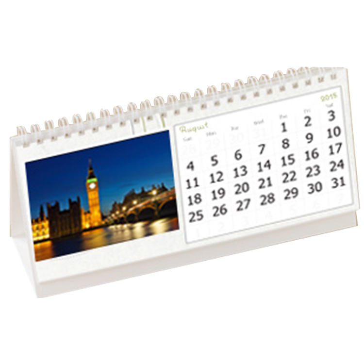 2017 free sample custom design China cheap calendar printing with wire bound
