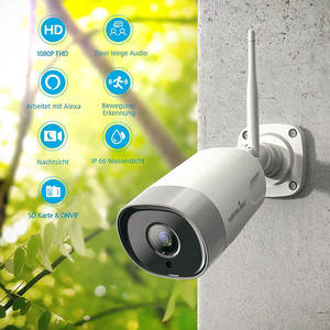 1080P HD IP Cloud Camera IP65 Day Night Vision Easy WiFi Setup via ios and Android APP