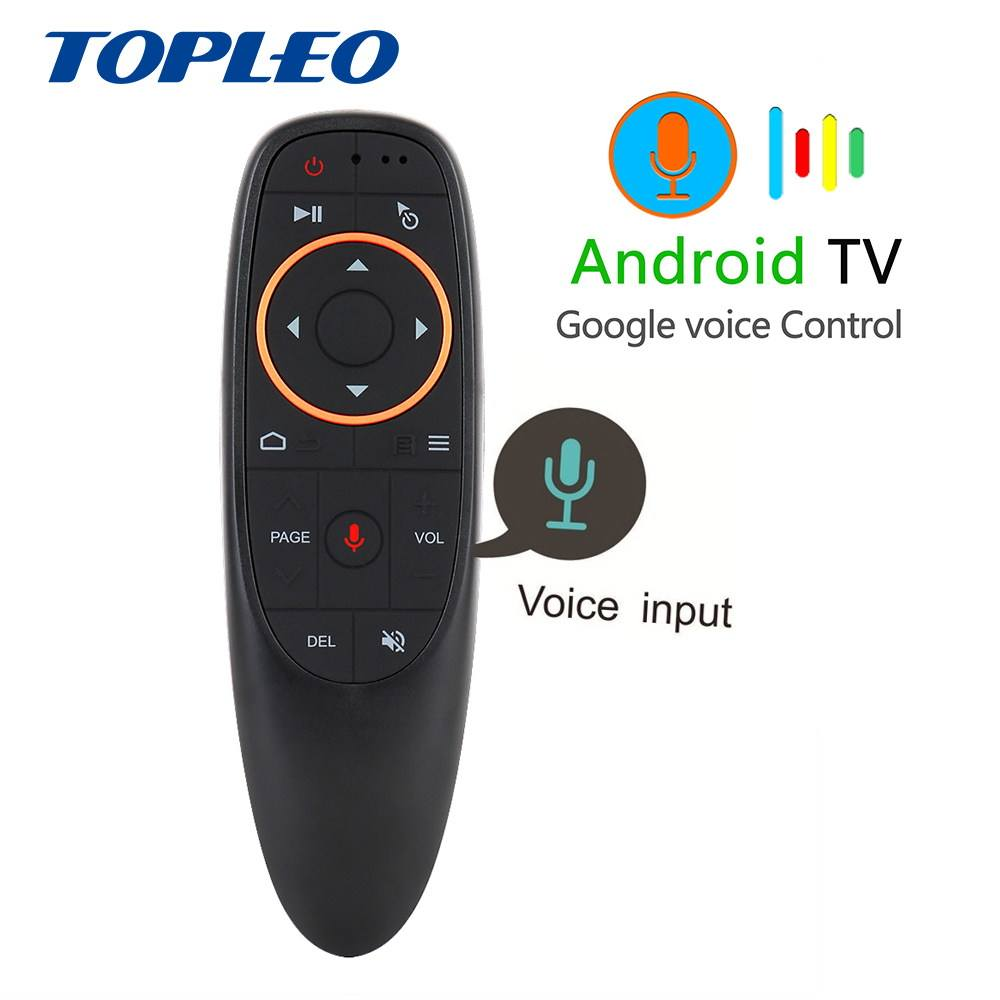 Wholesale G10 Google voice search universal tv remote control with built in speakers 6 axes move freely