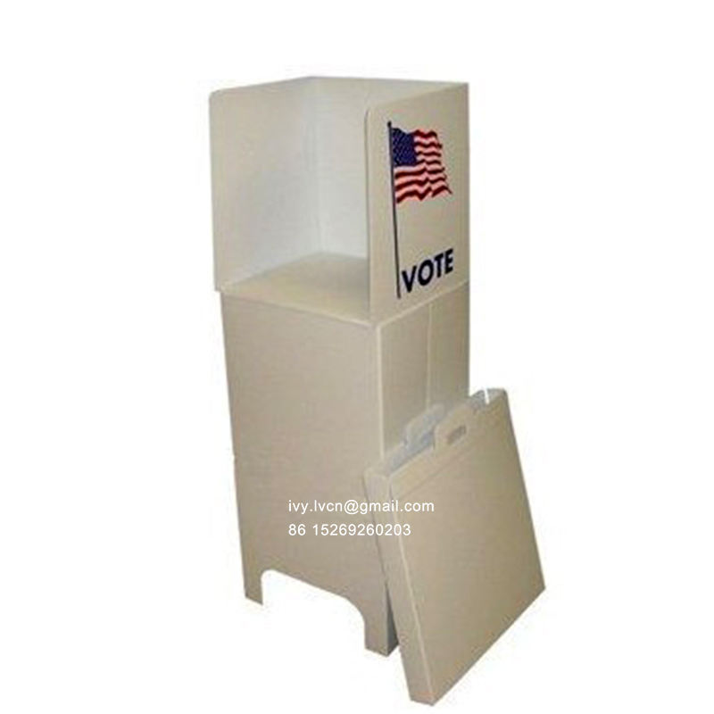 Portable Corrugated Plastic Election Voting Booth For 1 person