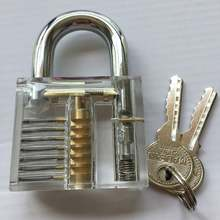 Transparent Practice Lock Padlock 7 Pin Practice Lock Set