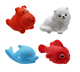 YH103 Cute Animals Swimming Water Toys Colorful Soft Rubber Float Squeeze Sound Squeaky Bathing Toy For Baby Bath Toys