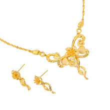 xuping fashionable brazilian gold jewelry, 24k gold plated bridal beads african jewelry set, fashion dubai gold jewellery set