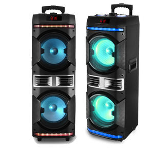 Portable Bluetooth PA Speaker System Active powered Outdoor Bluetooth Speaker with Party Lights