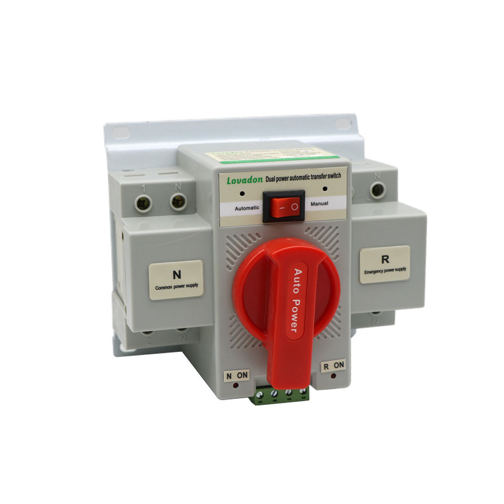 Trade Assurance AC 63A 2p 4P Single Phase ATS Fail-Safe Dual Power Automatic Transfer Switch