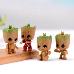 4pcs/set Marvel Guardians of The Galaxy Tiny groot Cute Baby Tree Man Model Figure action Toys collection wholesale