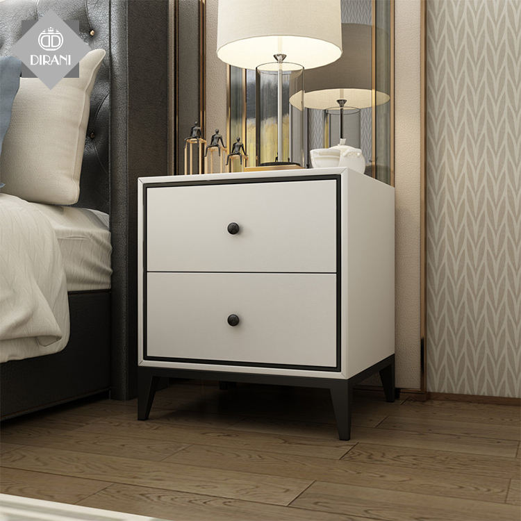 hotel night stand bedroom vanity nightstand table luxury wood table top bedside 2 drawers nightstand