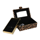 Custom Leopard Velvet Jewelry Storage Travel Jewelry Box Organizer for Ladies