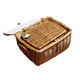 wholesale Amazon hot sale custom new design handmade natural rattan wicker picnic basket set storage baskets with handle