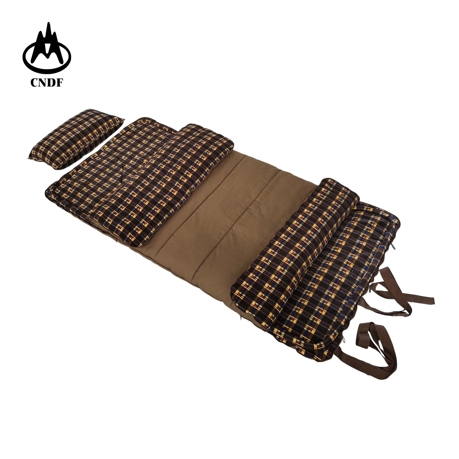 Wholesale hiking travel camping portable Khaki sleeping outdoor , warm, hunting,water proof camping canvas sleeping bag