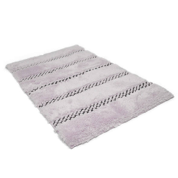 Pearl Yarn Tufted 100% Polyester Tie Dye Shaggy bath rug