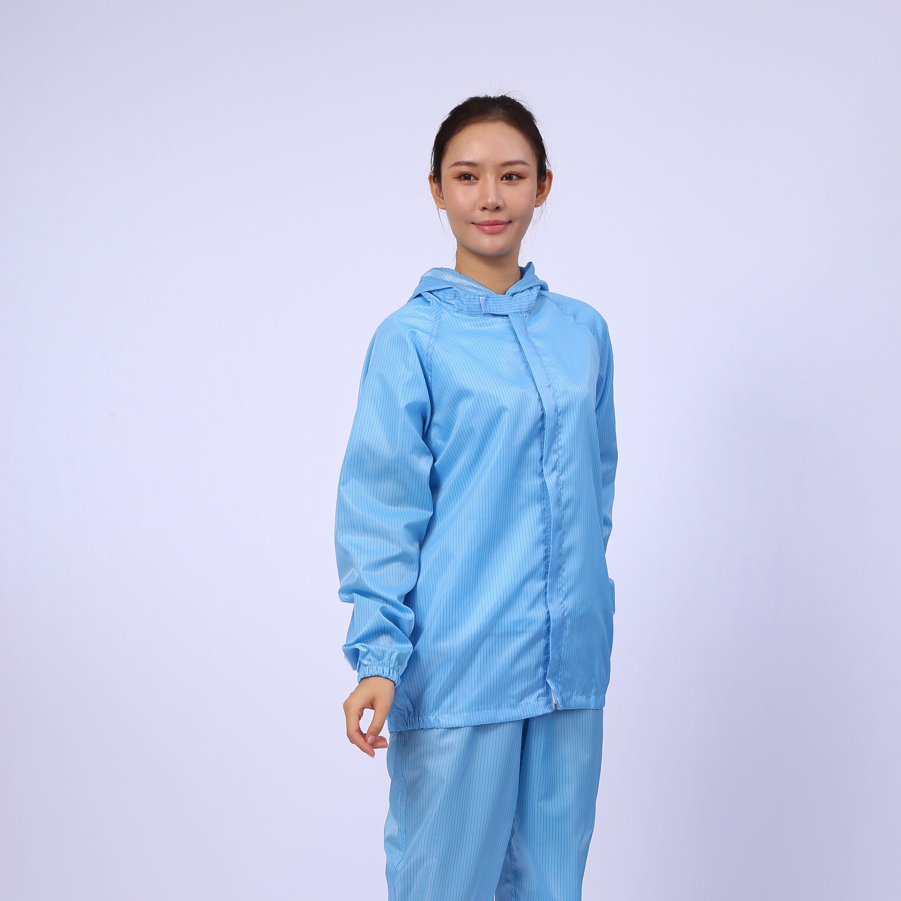Wholesale Lint Free ESD Labour Suit Cleanroom Garment Work Clothes Antistatic Esd Smock Uniform Overalls