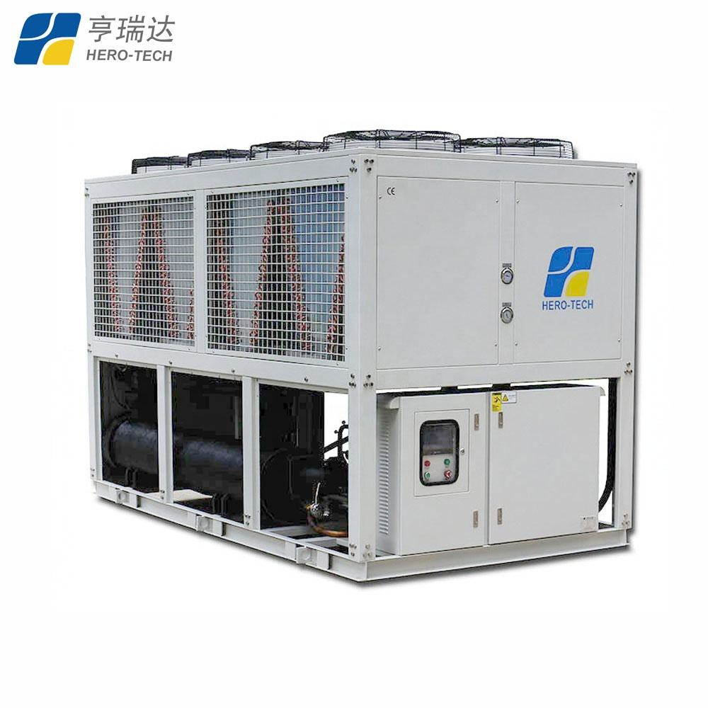 40hp air cooled low temperature screw chiller with 2yrs warranty Freon chiller