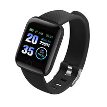New arrival high quality fitbit 116plus smart bracelet D13 waterproof sport smart watch Bluetooth 4.0 pedometer heart rate