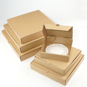 Braun karton pizza box leere pizza teig box