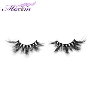 Wholesale High Quality 25mm 6D Eyelash Private Label 100% Real Mink Fur Fake Eyelashes