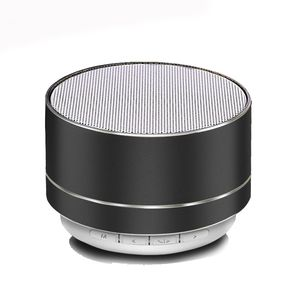 Custom New Metal Bluetooth Speaker Home Table Doss Flat Smart Echo Wireless Round Bluetooth Speakers with Led Light