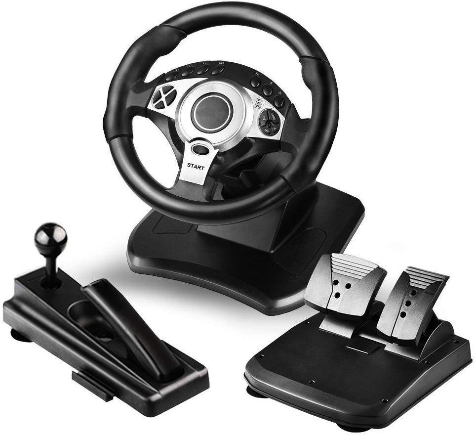 Top Video Game Controller 900 Degree PS3 Gaming steering Wheel, Volante PS4 for PC, Nintendo Switch