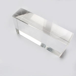 Machine made clear solid glass brick angle bricks crystal glass